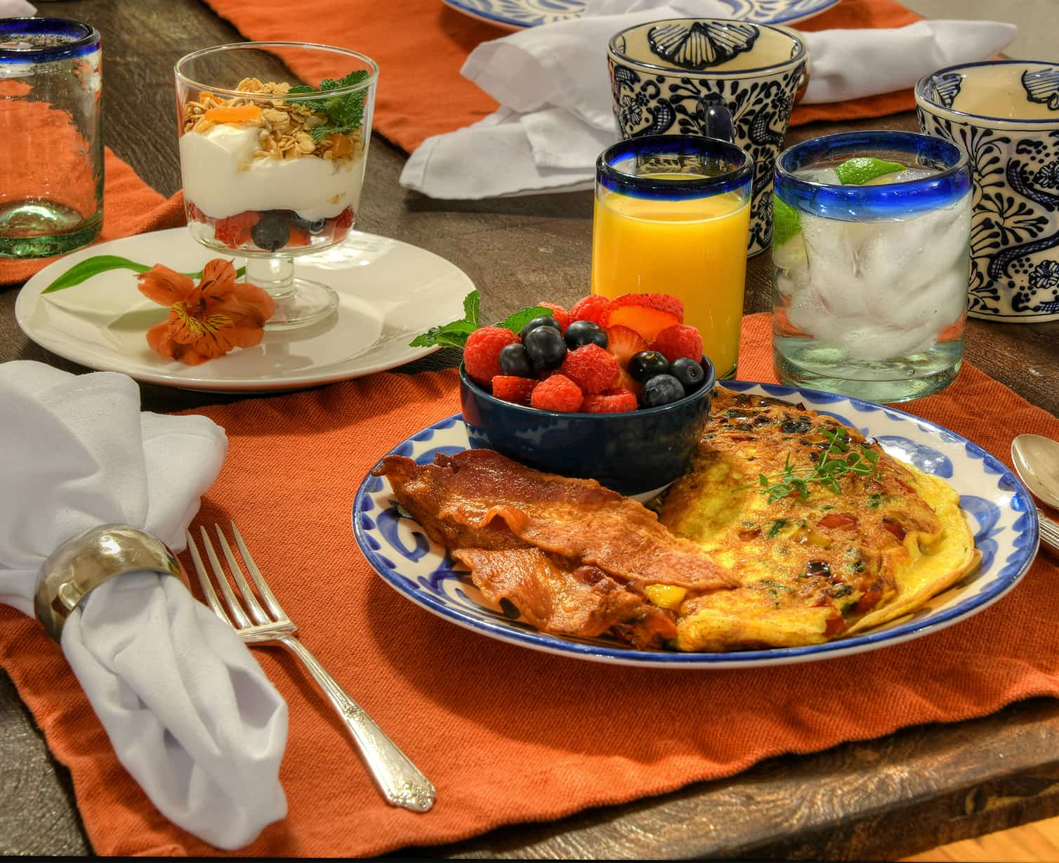 Locally sourced and regionally inspired breakfasts