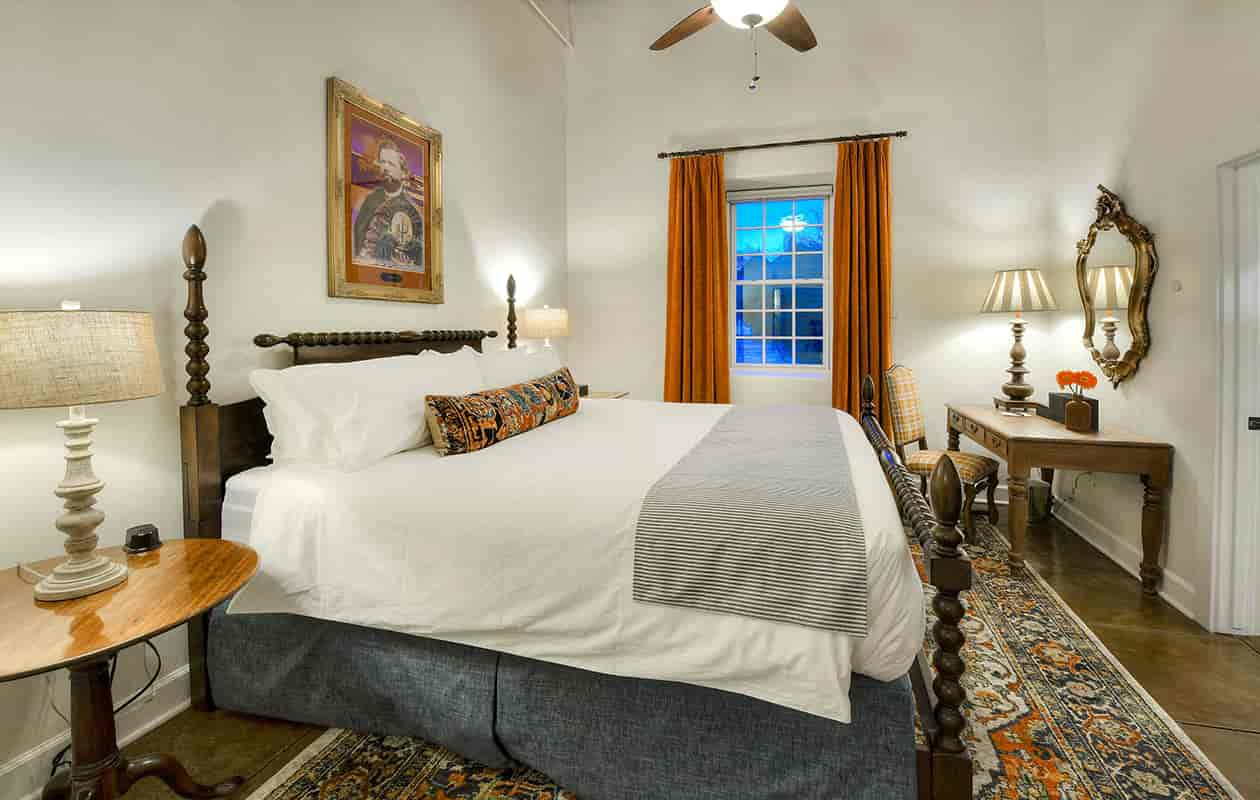 The Charles Debrille Poston Room bed