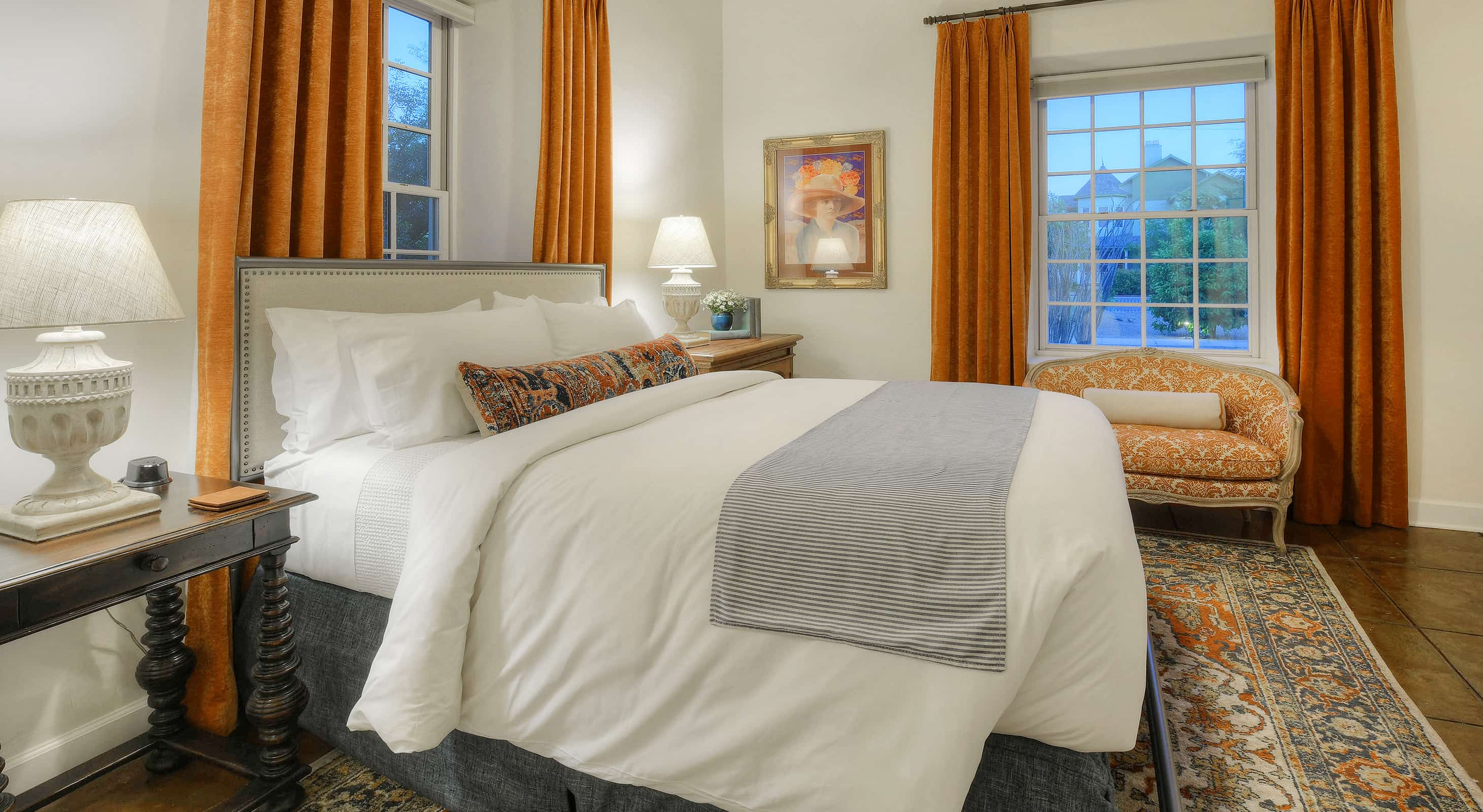 The Isabella Greenway Room bed