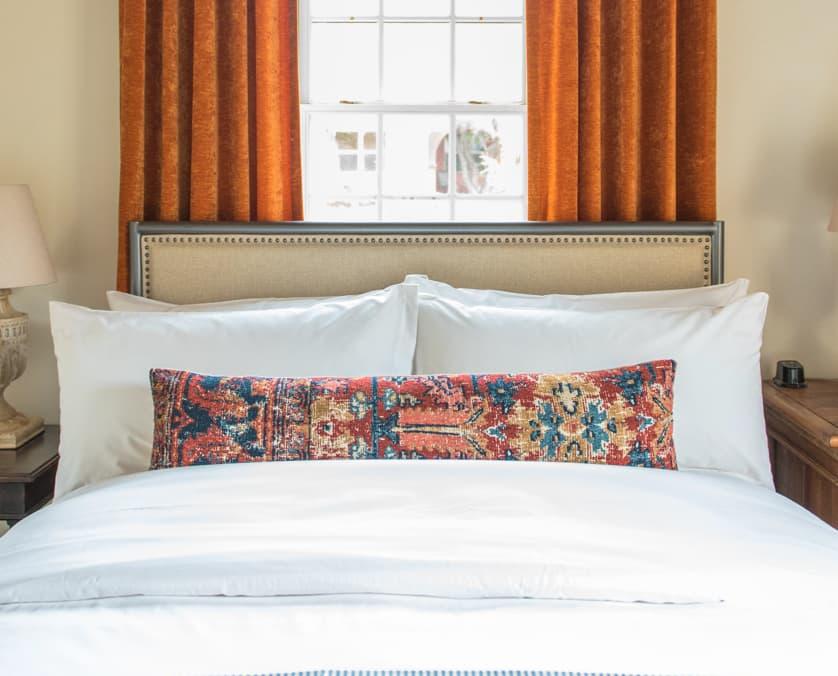 Plush bedding at the Armory Park Inn