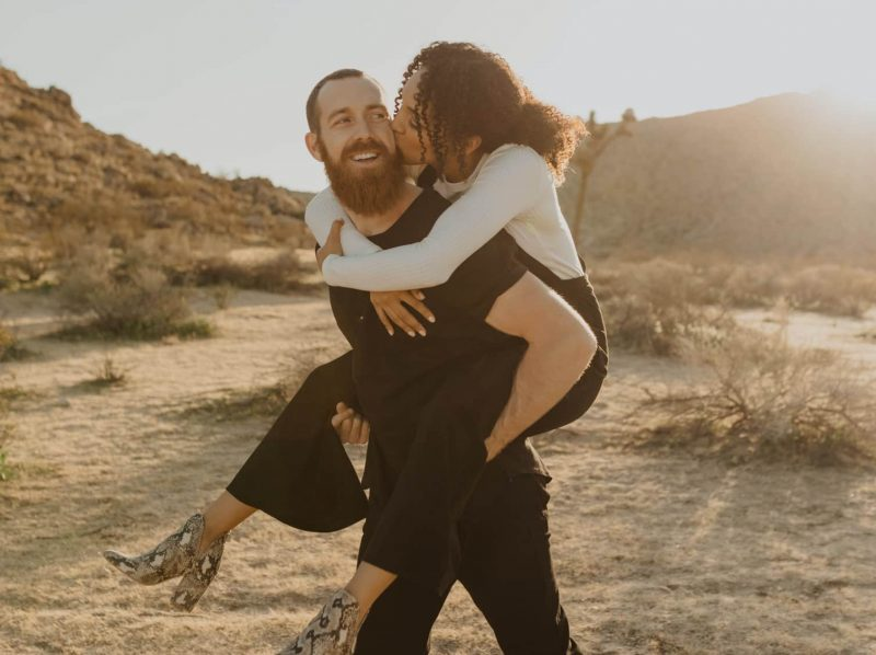 Couple having a great time together